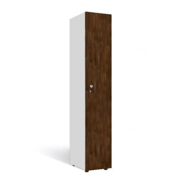 1-deurs locker 1-koloms garderobekast hout