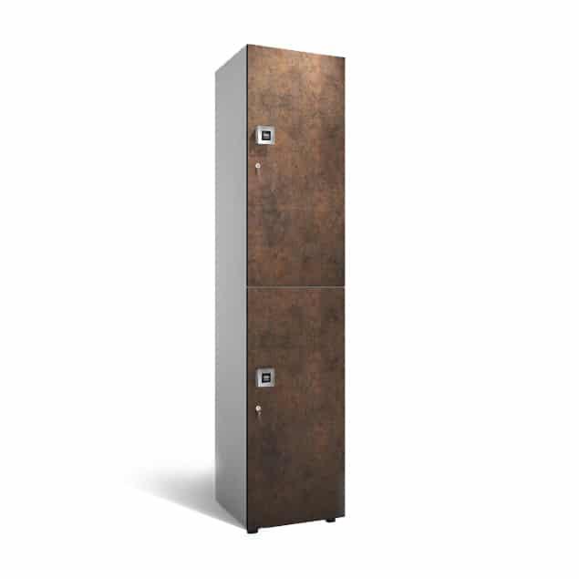 2-deurs 1-koloms houten garderobekast