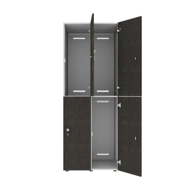 2-deurs locker 2-koloms hout open
