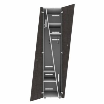 Trapezium 2-deurs locker hout