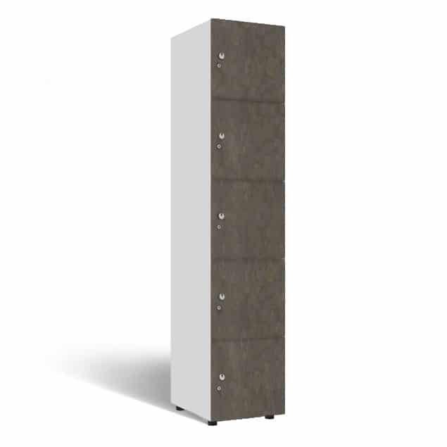 5-deurs locker 1-koloms houten locker