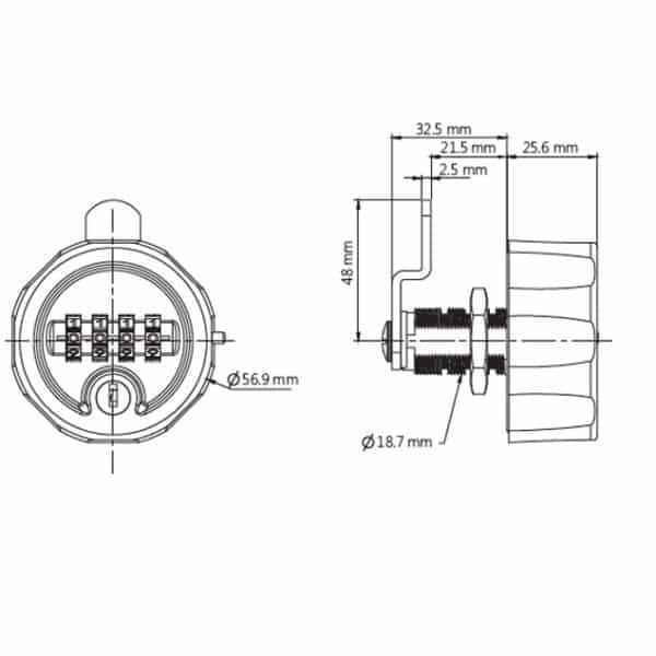C4 mechanisch cijferslot - technisch details