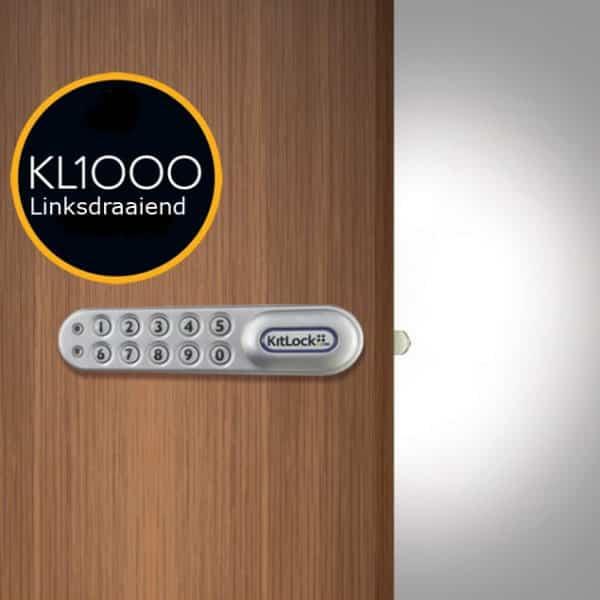 KL1000 horizontaal pincodeslot zilver - links
