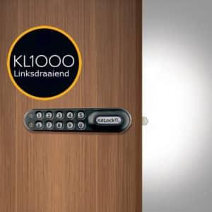 KL1000 horizontaal pincodeslot zwart - links