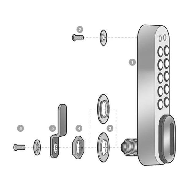 KL1000 elektronisch codeslo- verticaal - materialen
