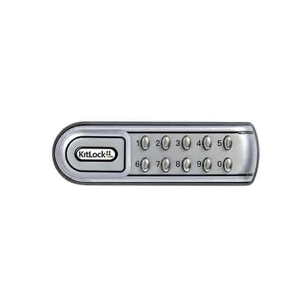 KL1200 slot met pincode horizontaal zilver - rechts