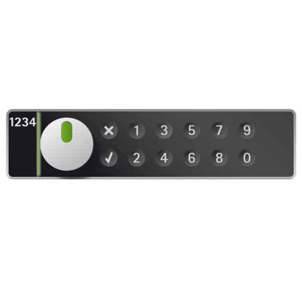LS100 pincode lockerslot horizontaal rechts - zwart