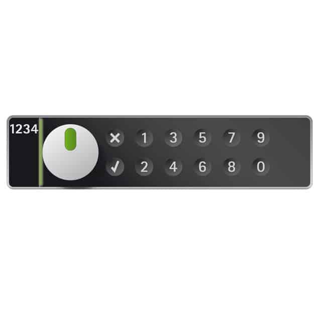 LS200 pincode lockerslot horizontaal rechts - zwart