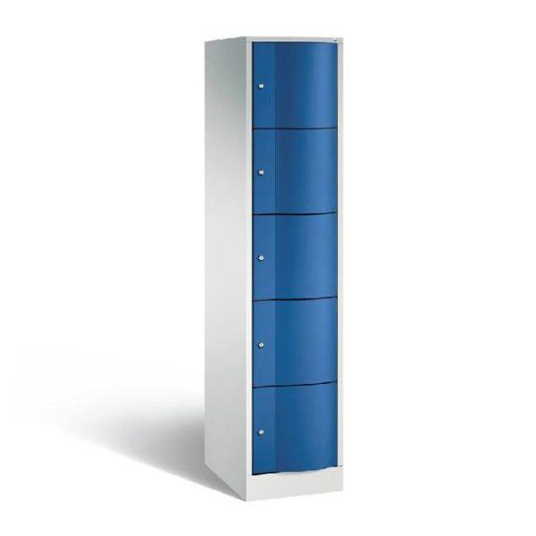 Schoollocker 5-deurs grijs blauw