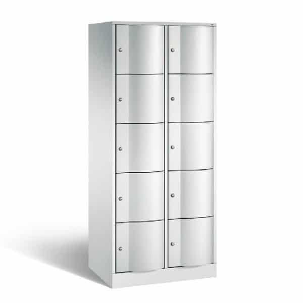 Schoollocker 5-deurs grijs grijs 2 koloms
