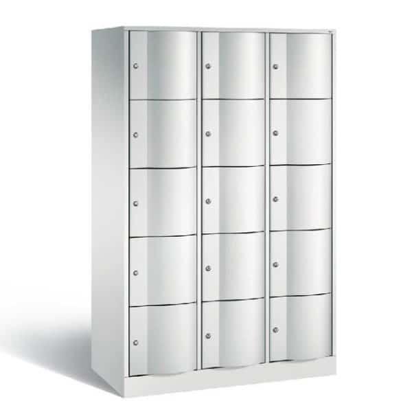 Schoollocker 5-deurs grijs grijs 3 koloms