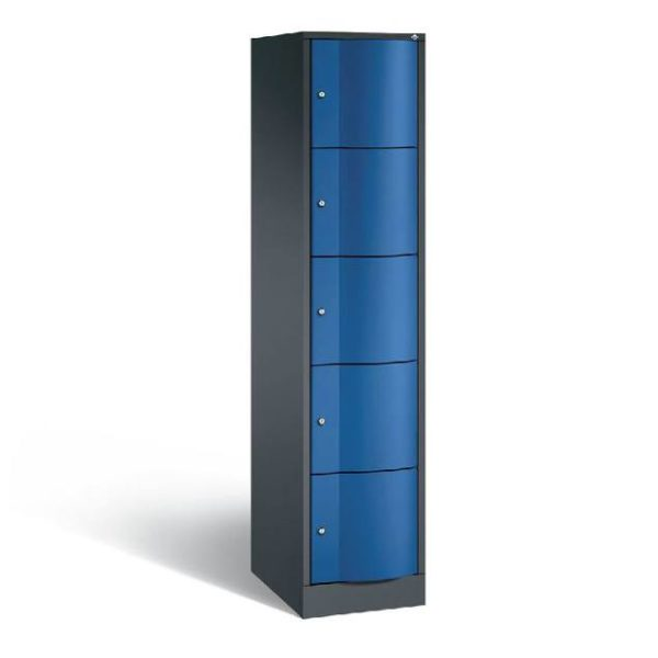Schoollocker 5-deurs zwart blauw