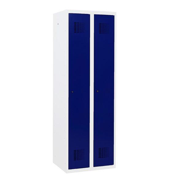 1-deurs 2-koloms wit-blauw