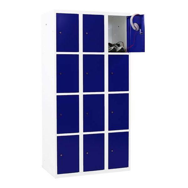 4-deurs 3-koloms wit-blauw