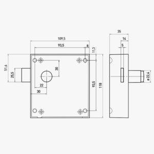 technische specificaties Ojmar OTS slot