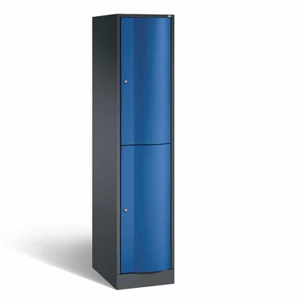 2-deurs 1-koloms s3000 zwart-blauw school locker