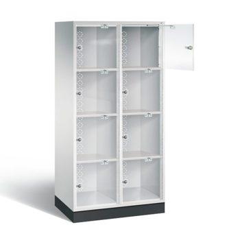 4-deurs 2-koloms acrylglas wit