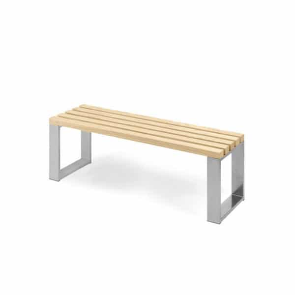 Bank blank gelakt hout