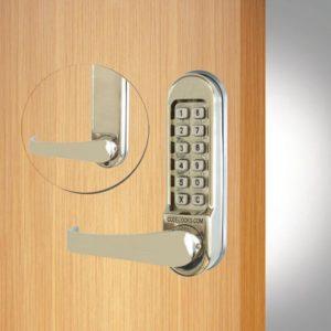 Codelocks deurslot CL505 voor- en achterzijde