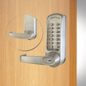 Codelocks deurslot CL605 voor- en achterzijde