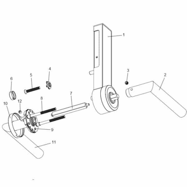 DS200 code deurslot technische tekening