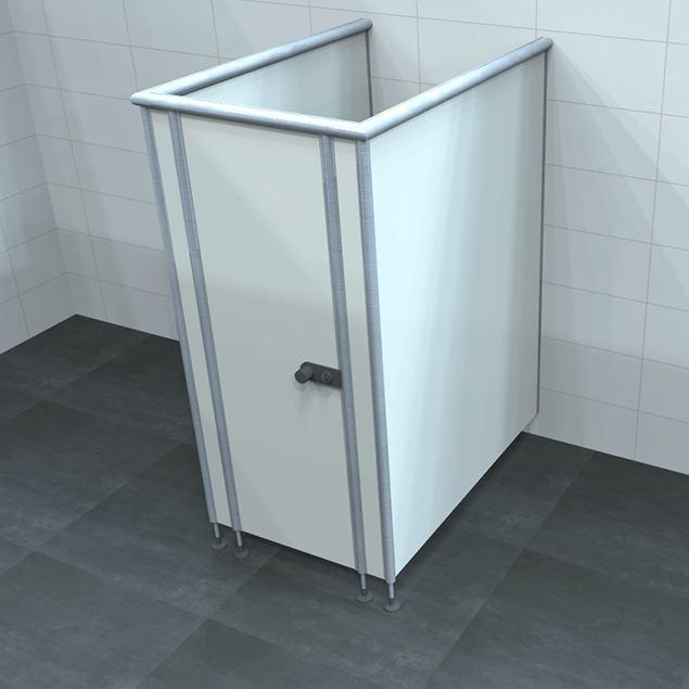 LM 13 Trespa sanitair wand of cabine.