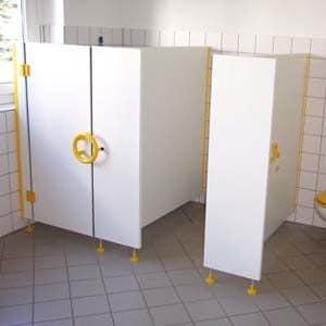 Toiletcabines kinderen droge ruitme