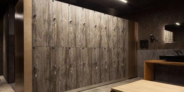 houten lockerkasten