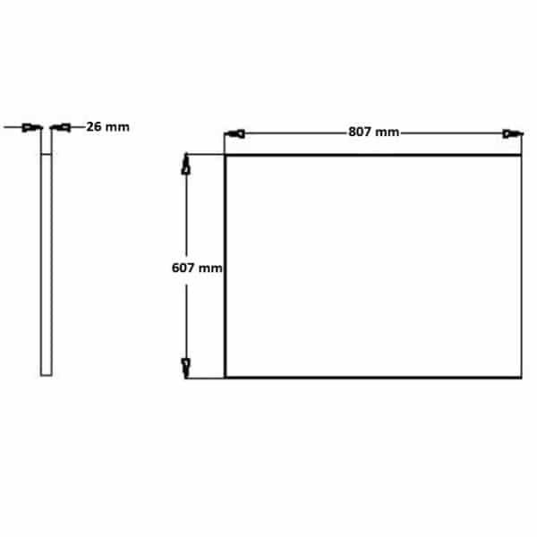 Spiegel Basic 600 x 800 mm