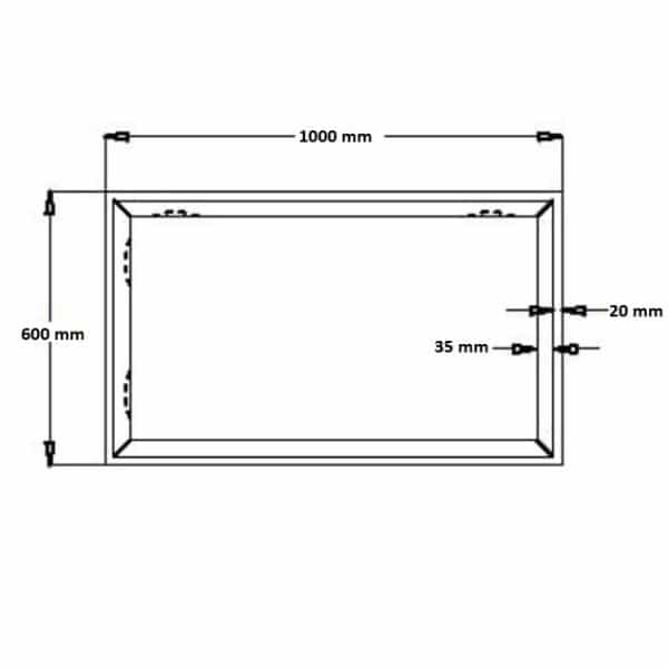 Spiegel Riflesso 600x1000 mm