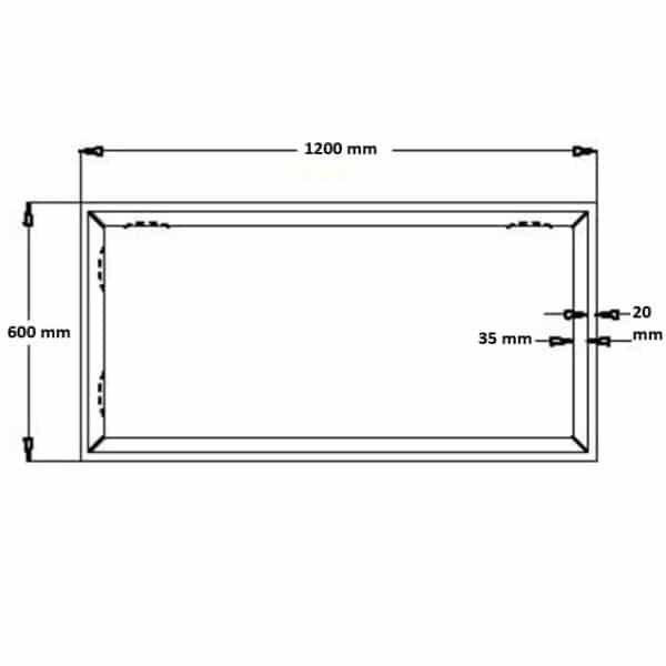 Spiegel Riflesso 600x1200 mm