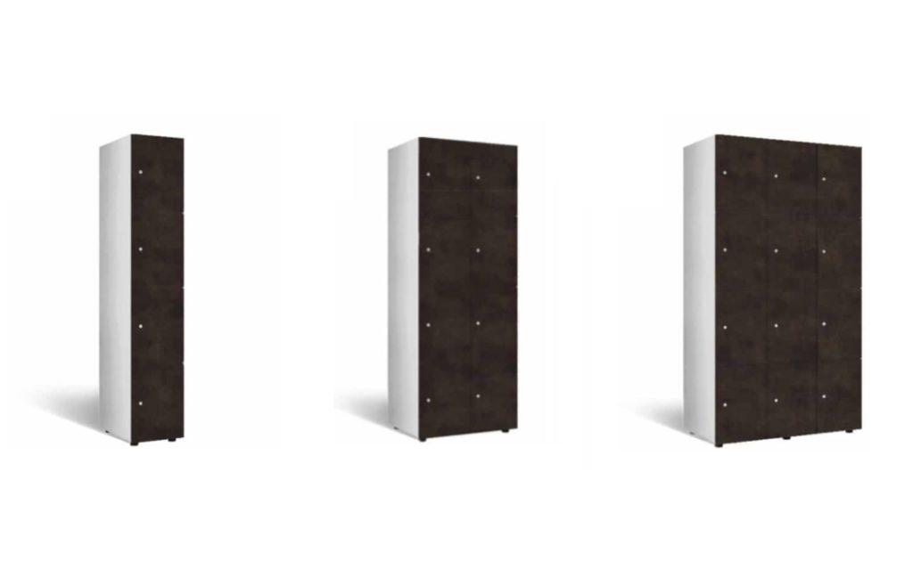 houten lockers