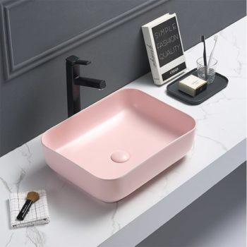 Waskom Keramiek Recht Color Roze